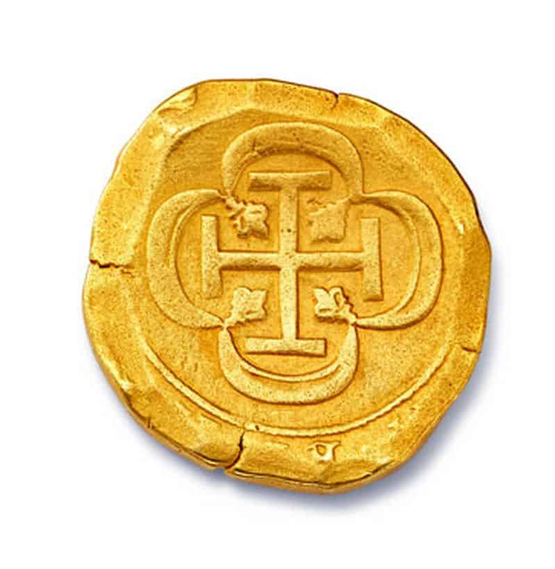 Lot 29 - 22-carat gold Spanish eight escudo coin minted in Mexico
