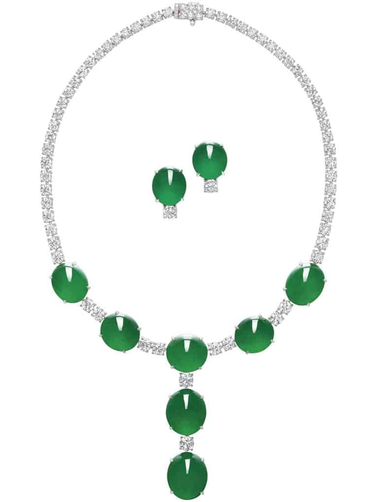 Lot 1779 - Another View of the Important Jadeite and Diamond Demi-Parure