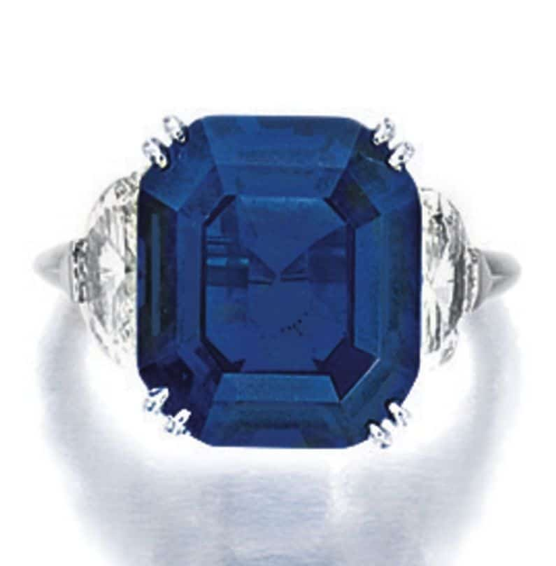 Lot 1795 - Important Sapphire and Diamond Ring