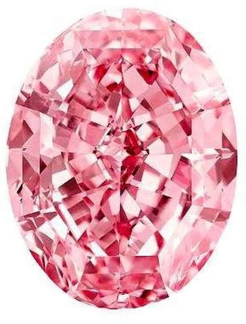 Lot 1801- 59.60-carat, oval mixed-cut, fancy vivid pink, Internally Flawless Pink Star diamond