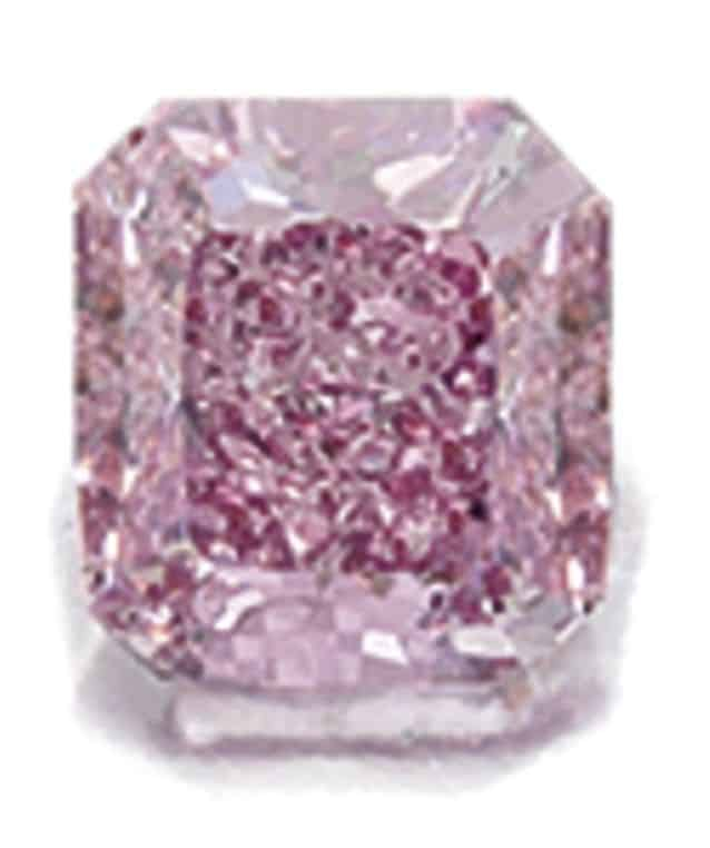 Lot 1685 - Fancy Vivid Purplish Pink Diamond and Diamond Ring