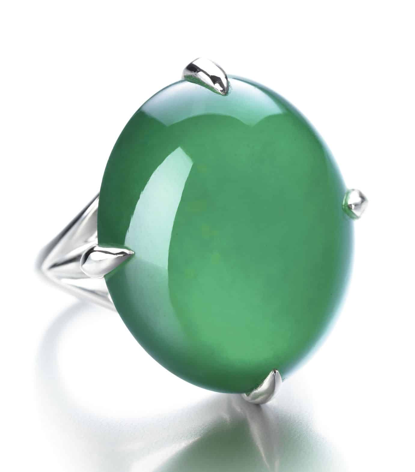 Lot 1767 - Important Jadeite Ring