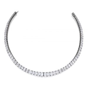 Lot 256 - Platinum and Diamond Necklace