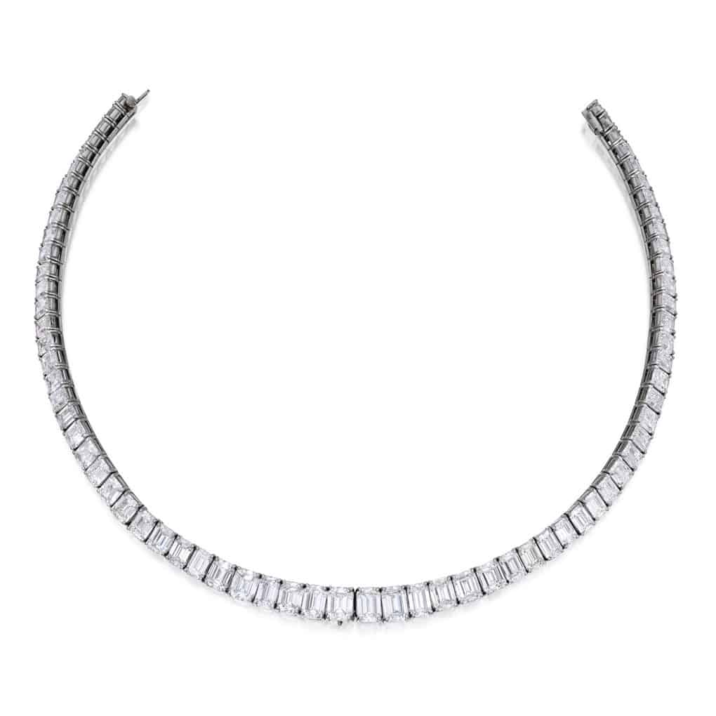 Lot 256 - Platinum and Diamond Necklace