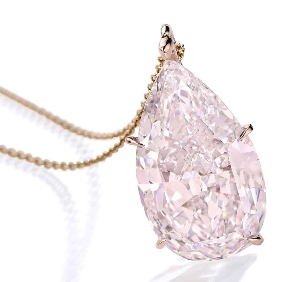 lot 87 - Important Rose Gold and Fancy Pink Diamond Pendant