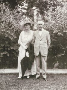 Mr. & Mrs. Edward Stotesbury featured in the 1918 Vogue magazine