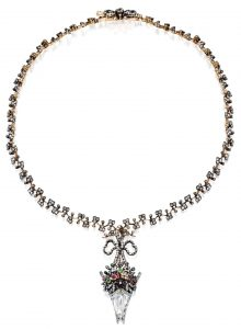 Lot 66 - Silver-Topped Gold, Diamond and Colored Stone Necklace, Frédéric Boucheron, Paris