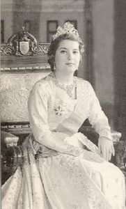 Queen Narriman of Egypt, second wife of King Farouk and last Queen of Egypt