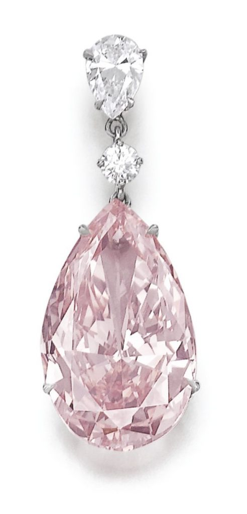 Lot 378 - Very important fancy intense pink diamond
