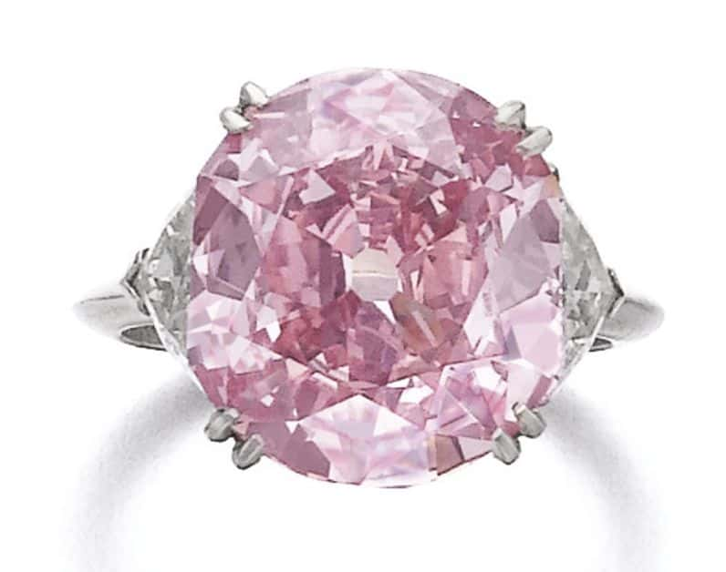 Lot 371 - Superb fancy intense purplish pink diamond ring, Piaget