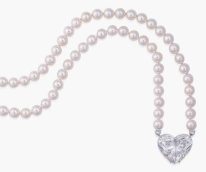 Lot 228 - LA LÉGENDE, A DIAMOND AND CULTURED PEARL SAUTOIR NECKLACE, BY BOEHMER ET BASSENGE