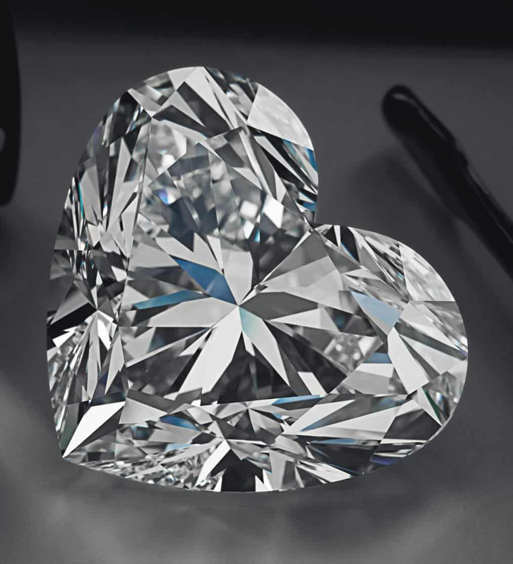 """Lot 228 - 92.15-CARAT, HEART-SHAPED, D-COLOR, FLAWLESS DIAMOND INCORPORATED AS PENDANT IN THE """"LA LEGENDE' NECKLACE"""