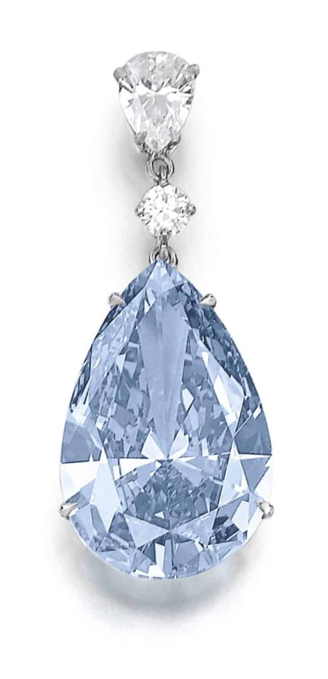 Lot 377 – Superb and extremely rare fancy vivid blue diamond