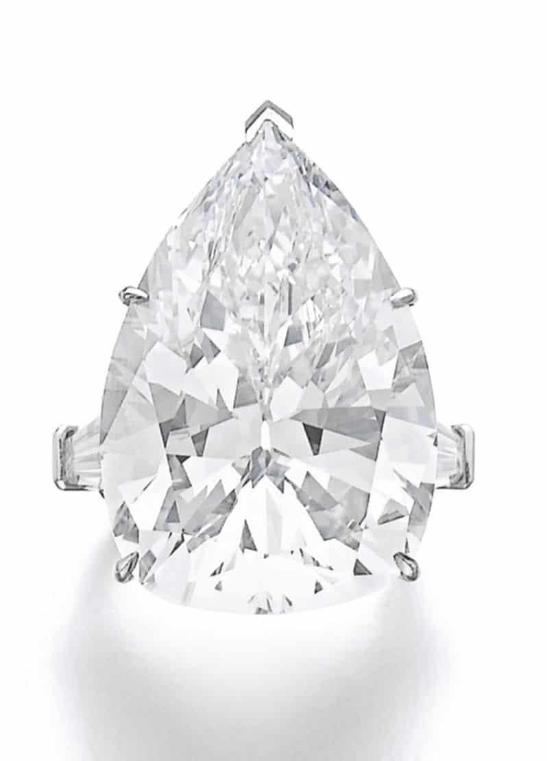 Lot 326 – Important diamond ring, Harry Winston