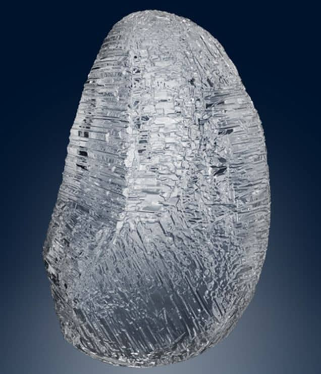 Computer generated image of the 179-carat Romanov rough diamond discovered at Nyurbinskaya kimberlite pipe in Yakutia
