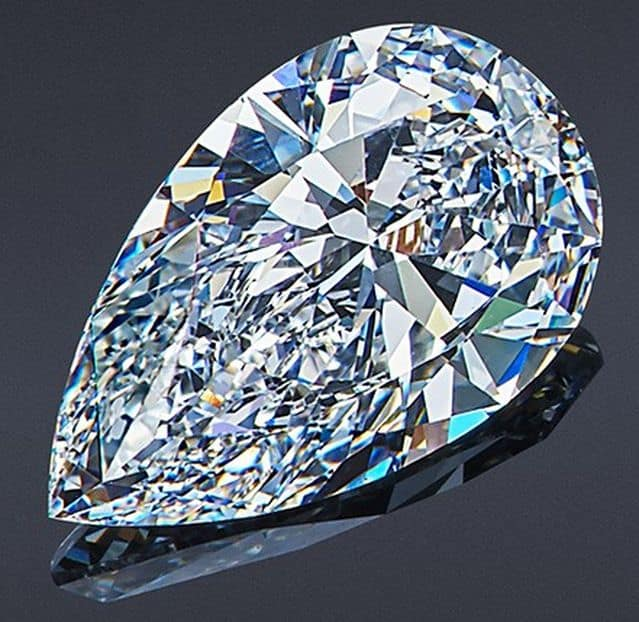 1.73-Carat, Pear-Shaped Vorontsovs Diamond