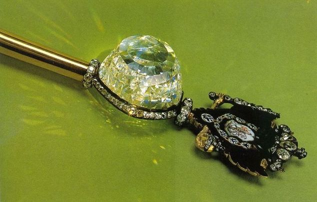 Orlov Diamond Mounted on the Russian Imperial Sceptre
