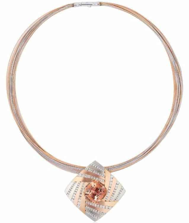 BUSINESS/DAY WEAR 1ST PLACE - ADAM NEELEY 18K ROSE AND 14K ROSE WHITE GOLD COSMOS PENDANT