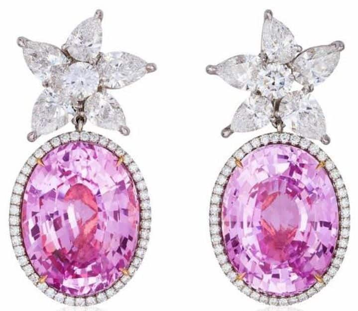 CLASSICAL 1ST PLACE - ALLEN KLEIMAN Co. PLATINUM AND 18K PINK GOLD EARRINGS