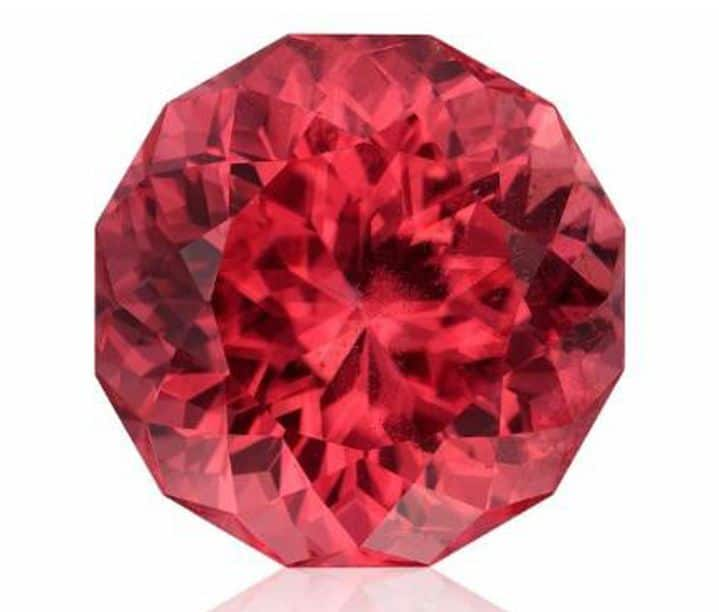 ALL OTHER FACETED 1ST PLACE - BRETT KOSNARM 24.26-CARAT ROUND PORTUGUESE-CUT RHODOCHROSITE