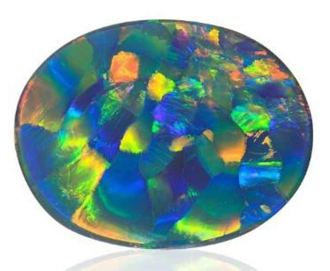 PHENOMENAL 1ST PLACE - JOEL PRICE 100.66 CT. HARLEQUIN PATTERN BLACK OPAL