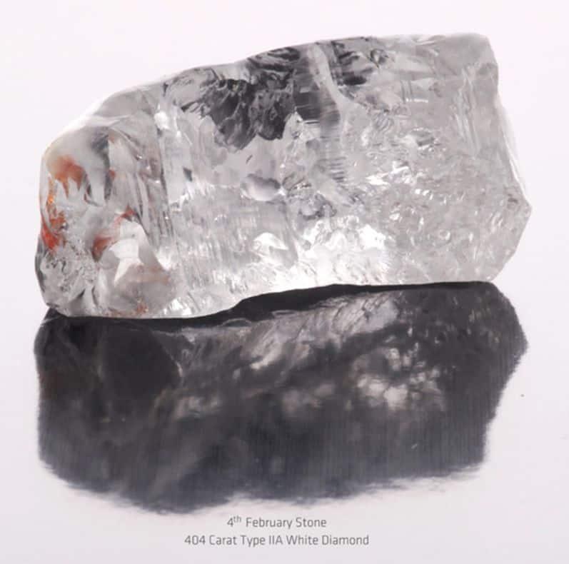 404-CARAT TYPE IIa 4TH-FEBRUARY DIAMOND