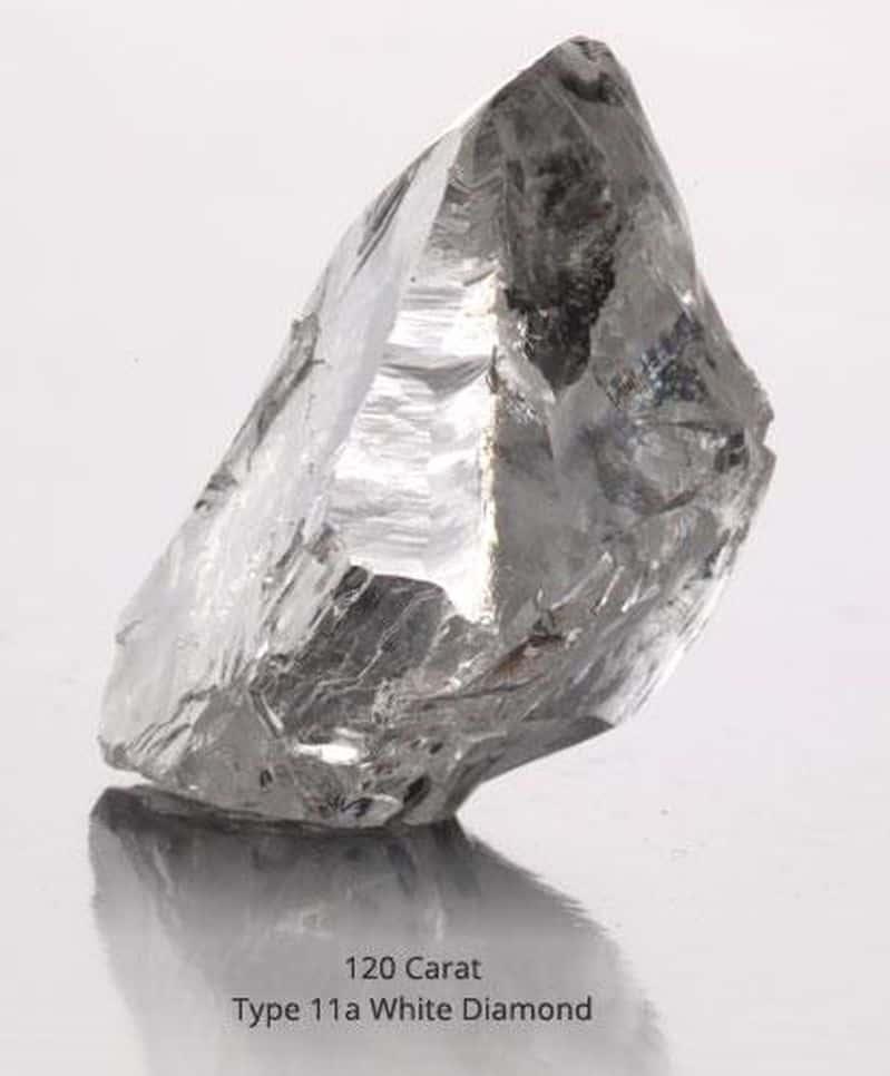 120 CARAT, TYPE IIa, WHITE LULO DIAMOND