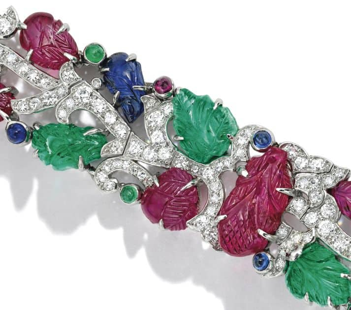 LOT-1869 - SECTION OF THE CARTIER TUTTI FRUTTI BRACELET ENLARGED