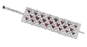 LOT 101 - RUBY AND DIAMOND BRACELET, CHOPARD, FULL IMAGE