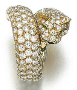 LOT 206 - DIAMOND RING 'PANTHÈRE', CARTIER