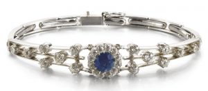 LOT 309 - SAPPHIRE AND DIAMOND BRACELET