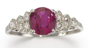 LOT 310 - RUBY AND DIAMOND RING