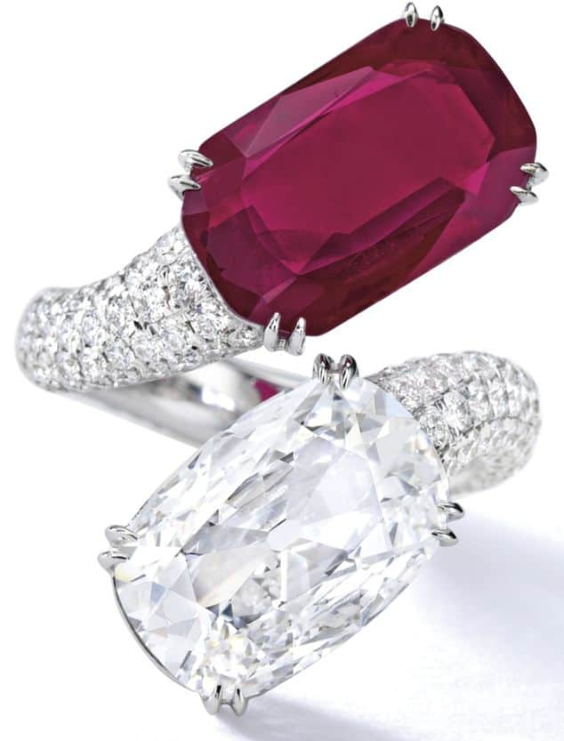 LOT 1844 - IMPORTANT RUBY AND DIAMOND RING