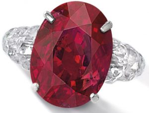 LOT 1857 - VERY RARE AND IMPRESSIVE RUBY AND DIAMOND RING, DESIGNED AND MOUNTED BY BHAGAT