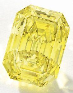 LOT - 1698 - IMPORTANT FANCY VIVID YELLOW DIAMOND RING