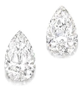 LOT 1863 - IMPORTANT PAIR OF UNMOUNTED DIAMONDS