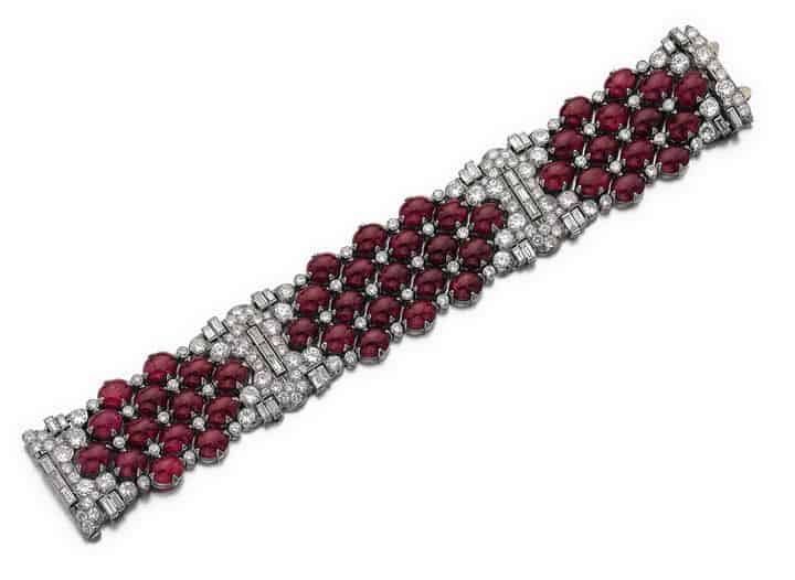 RUBY AND DIAMOND BRACELET BULGARI, CIRCA 1930