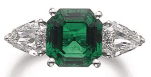 LOT 948 – FINE EMERALD AND DIAMOND RING, MEISTER