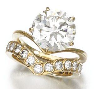 LOT 195 – TWO DIAMOND RINGS