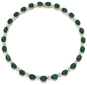 LOT 200 – EMERALD AND DIAMOND NECKLACE