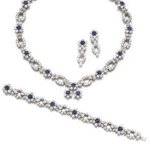 LOT 88 – DIAMOND AND SAPPHIRE PARURE, HARRY WINSTON