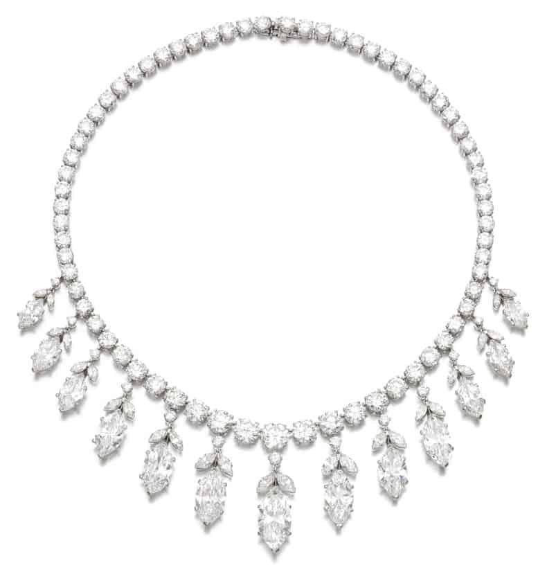 LOT 440 – IMPORTANT DIAMOND NECKLACE, VAN CLEEF & ARPELS, 1950S