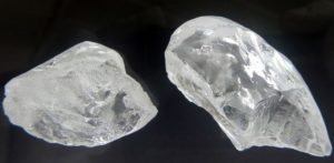 EXCEPTIONAL 129-CARAT AND 78-CARAT, D-COLOR, TYPE IIa. LULO DIAMONDS FROM THE 2,160-CARAT ROUGH LULO PARCEL
