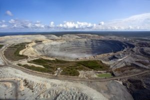UDACHNY OPEN-PIT MNE FAMOUS FOR ITS BIG DIAMNDS
