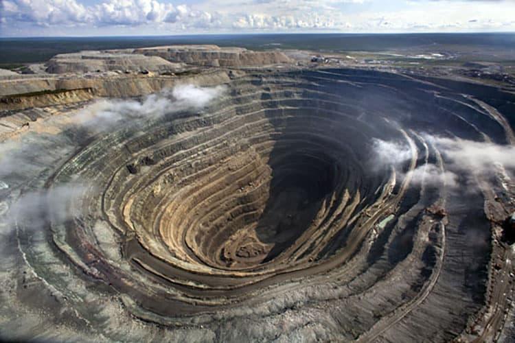 UDACHNY OPEN-PIT MINE AT WESTERN YAKUTIA