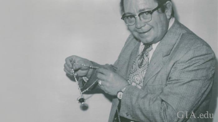 CHARLES LEUTWYLER AT THE TIME HE WAS INVITED TO EXAMINE AND PHOTOGRAPH THE HOPE DIAMOND
