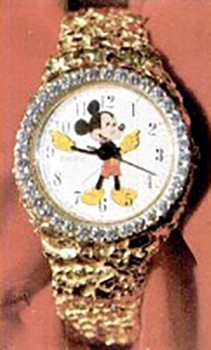 TEN THOUSAND DOLLARS CHARLES LEUTWYLER DIAMOND MICKEY MOUSE WATCH