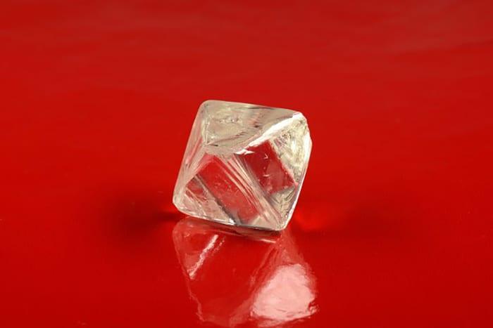 97.92-CARAT, OCTAHEDRAL,, YELLOWISH-HUE, ROUGH DIAMOND