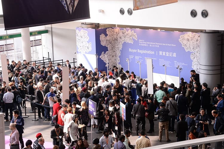 BUYER REGISTRATION AREA OF THE 2017 HONG KONG INTERNATIONAL DIAMOND, GEM AND PEARL SHOW