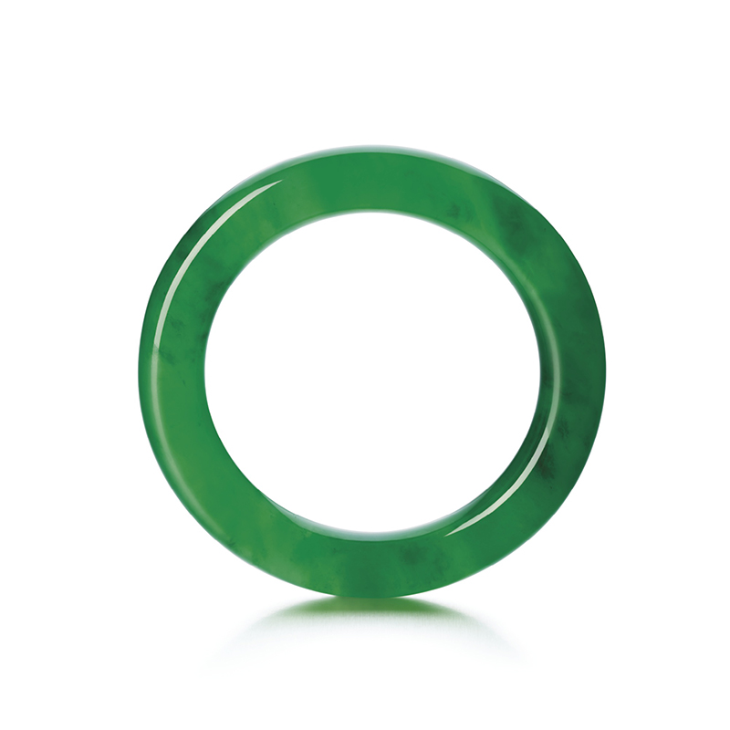 LOT 1771 - HIGHLY IMPORTANT AND SUPERB JADEITE BANGLE